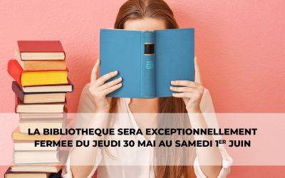 #Fermeture bibliothèque municipale