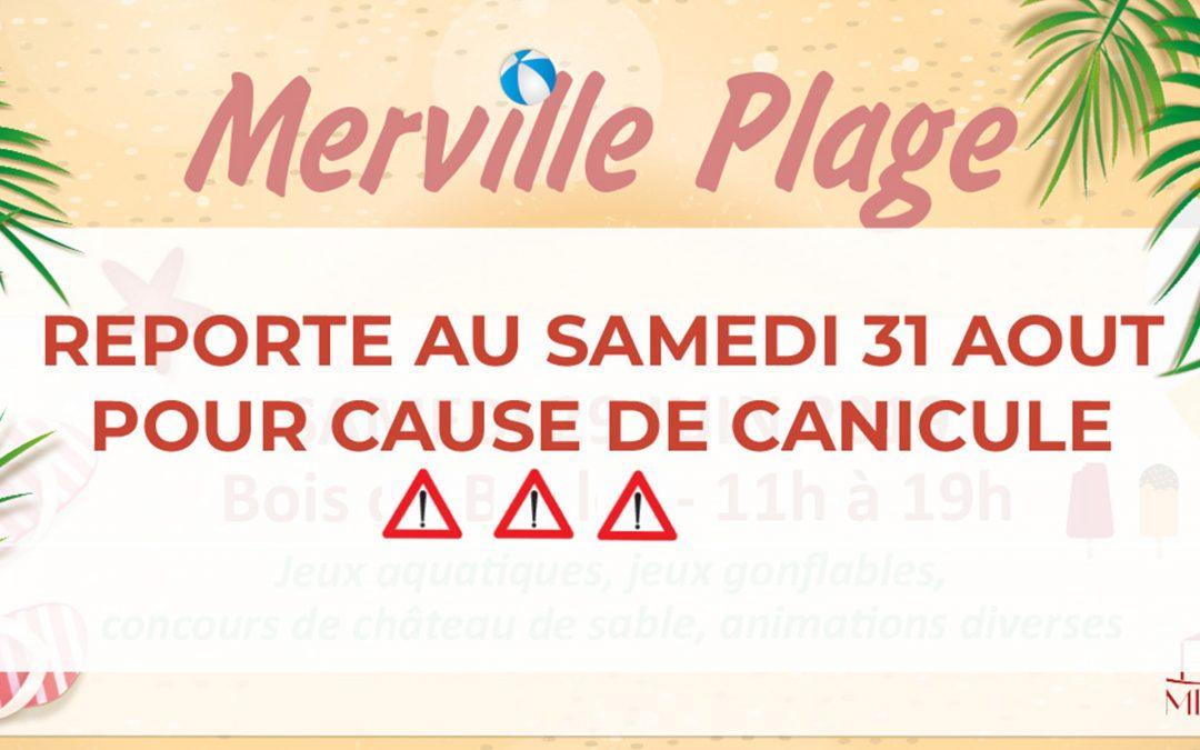 #Merville plage reporté