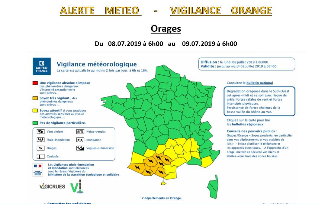#Alerte Orange Orages