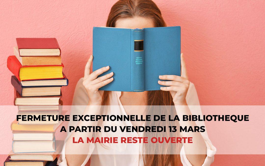 #Fermeture bibliothèque