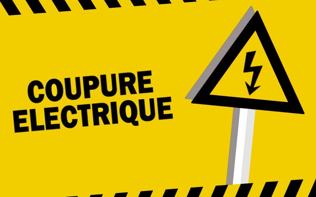#Coupure électrique