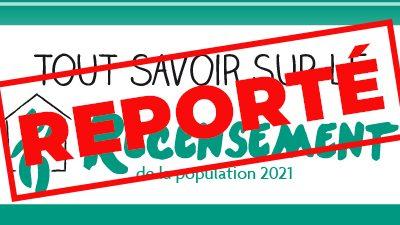 #Recensement 2021 reporté