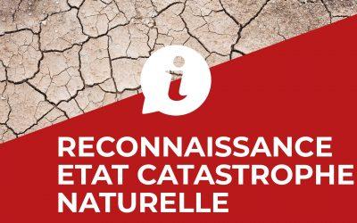 #Reconnaissance état catastrophe naturelle